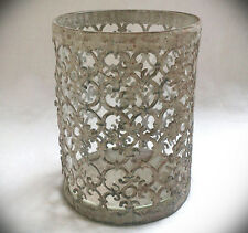 Windlicht Metall Glas rund antik Kerzenständer Laterne Teelichthalter marokko