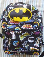 BATMAN Backpack NeW Marvel Comics Full Size Canvas Book Bag NWT Robin