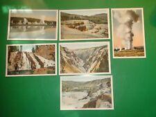 Jb380 Vintage Lot of 6 Postcards Yellowstone National Park