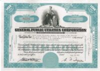 General Public Utilities Corporation > 1945 New York old stock certificate share