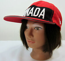 HBC CANADA Official  Olympic Red/Black Strapback Baseball Cap-One Size