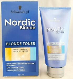 Schwarzkopf Nordic Blonde Toner Removes Unwanted Yellow Gold Tones 150mL