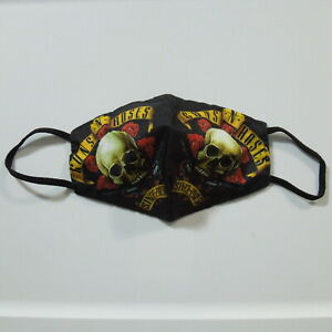 - GUNS N' ROSES Since 1985, GNR Greatest Hits Live Band Logo (Face Mask) NWOT