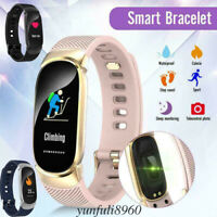 Lady Women Smart Watch Sport Fitness Tracker Waterproof Wrist Band Bracelet