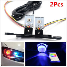 2x RGB LED Light Devil Demon Eyes Bulbs Bluetooth APP Control Headlight Retrofit