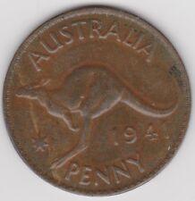 1941 Australia (British Commonwealth) One Penny km 36 - Nice Patina You Grade