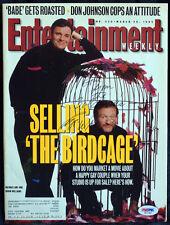 UNIQUE Entertainment Magazine ROBIN WILLIAMS Birdcage Autograph AUTO PSA/DNA COA