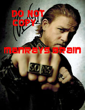 CHARLIE HUNNAM Signed Autograph RP 8.5 x 11 Photo SONS OF ANARCHY