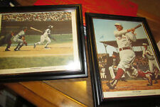 Vintage Robert Thom Print Chevrolet Commissioned THE FIRST GAME & HANK AARON ART