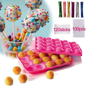 Backform Cake Pop Förmchen Silikon Lollipop Schokoladen Kuchen Süßigkeiten Form