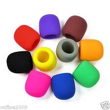 10pc colores de mano escenario Micrófono parabrisas Espuma MIC TAPA KARAOKE DJ