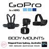 GENUINE GoPro Body Mounts - CHESTY/ HAND + WRIST STRAP/ HEAD STRAP + QUICK CLIP