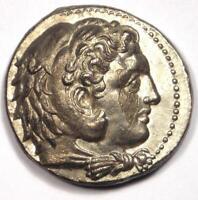 Macedon Philip III AR Tetradrachm Coin - 323-317 BC - Sharp AU Condition!