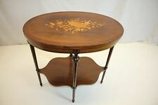 French Directoire Rosewood  Inlaid Marquetry Side End Center Table Circa 19th