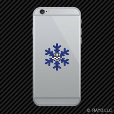 Connecticut Snowflake Cell Phone Sticker Mobile CT snow flake snowboard skiing