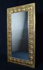 More details for small antique edwardian brass hall mirror