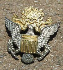 US Army Eagle Officer Hat Badge pin back  Haltom Jewelers Fort Worth TX sterling