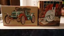Avon Stanley Steemer blue car Bulldog pipe unopened aftershave full
