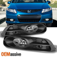 2012 2013 Civic 2 Doors Coupe Bumper Driving Clear Fog Lights w/Switch + Bulbs