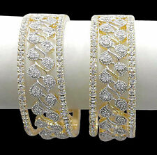 Bollywood Fashion Gold Plated CZ Indian Bangles Partwear Traditional Jewelry