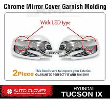 Chrome Side Mirror Cover Molding With LED B661 For HYUNDAI 2010-2013 Tucson ix