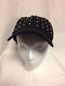 David & Young Studded Baseball Cap One Size WCAP7277 Black NWT