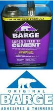 BARGE Original Super Speed Cement TF 1 Gallon Quabaug Shoe Glue Tin Can New USA