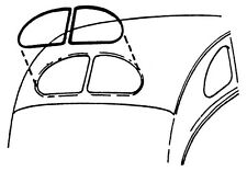 1937-1940 FORD & MERCURY CAR REAR WINDOW SEAL - SEDAN & COUPE   PART# 78-7042084
