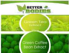 60 GREEN COFFEE BEAN EXTRACT & 30 GREEN TEA  DIET SLIMMING SLIM FAT BURN PILLS