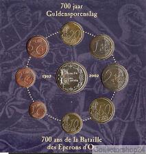 Coinset / Muntset Belgium 2002 BU / Mint  9 euro Coins