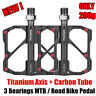 PROMEND Ultralight Carbon Titanium Bicycle Pedal MTB Road Bike Pedal 3 Bearings