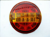 2x 12V LED TAIL LIGHTS BURGER REAR LAMPS CARAVAN CHASSIS TRAILER TRACTOR TRUCK