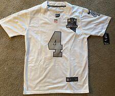 Derek Carr Las Vegas Raiders Medium White Game Jersey Brand New with Patch