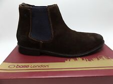 Base London SCUTTLE Men's Greasy BROWN Suede Leather SZ 10.0 M PRE OWNED D4659