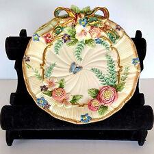 Fitz & Floyd Classic Sri Lanka Butterfly Ribbon Flowers Plate