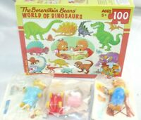 New Berenstain Bears World Of Dinosaurs Made in USA Puzzle & 3 Vintage Figures