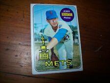 1969 Topps #90 JERRY KOOSMAN (Rookie Baseball Card)(EX) New York Mets Pitcher NY