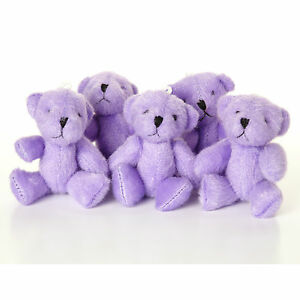 NEW - Purple Teddy Bears - Small Cute And Cuddly  - Gift Present Birthday Xmas