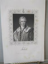 Vintage Print,WILLIAM PITT AMHEARST,English Gen,Steel Engraving,19th Cent