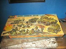 VERY COVETED RARE REVELL 1956 ARMY COMBAT TEAM GIFT SET+ REPRODUCTION DECALS