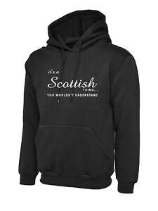 It's a Scottish thing - mens hoodie patriotic printed slogan scotland hoody top