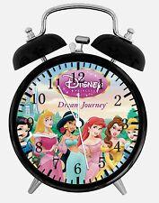 "Disney Princess Alarm Desk Clock 3.75"" Home or Office Decor W228 Nice For Gifts"