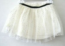First Impressions NWT Toddler Girls Tutu White Glitter Gold Size 18 Month KD794