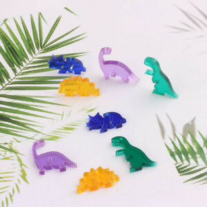 10pcs Catoon dinosaur Flatback resin cabochon Colorful charms for earring making