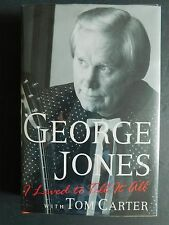 SIGNED Autobiography GEORGE JONES I Lived to Tell It All hardcover 1996 for Bill