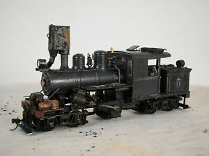 On30 Climax Logging Steam Locomotive - TSU 2200 DCC & Sound - custom weathered