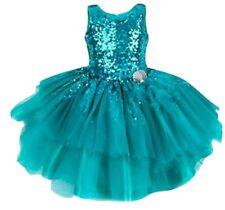 Disney Princess Sequin Green Lace Little Mermaid Dress girls 3-4yrs