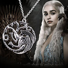 Game Of Thrones Targaryen Zinc Alloy Dragon Chain Pendant Necklace Jewelry