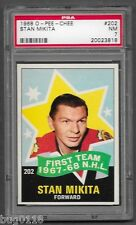 1968-69 OPC STAN MIKITA ALL STAR #202 PSA 7 NM! 68-69 O Pee Chee