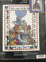 Janlynn Cat's Poem Counted Crosstitch Kit